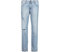 The Fling Distressed Boyfriend Jeans Heller Denim