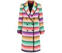 Crochet-knit Coat Mehrfarbig