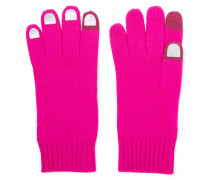 Wild Thing Foiled Merino Wool Gloves Fuchsia