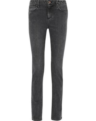 Gasper Faded Mid-rise Skinny Jeans Black  4