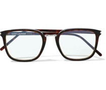 Square-frame Tortoiseshell Acetate Optical Glasses Animal Print Size --