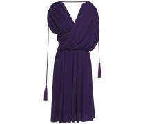 Wrap-effect Tassel-trimmed Jersey Dress