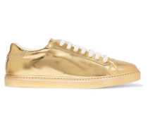 Metallic Patent-leather Sneakers Gold