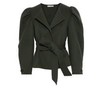 Maxine Belted Gathered Wool-felt Jacket