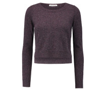 Cropped Cashmere Sweater Brombeere