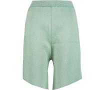 Ribbed stretch-knit shorts