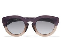 + Linda Farrow Round-frame Acetate Sunglasses Braun