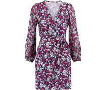 Signourney Printed Cotton And Silk-blend Mini Wrap Dress Mehrfarbig