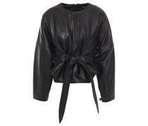 Belted Leather Top