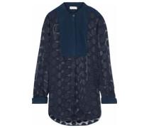 Fil coupé chiffon blouse