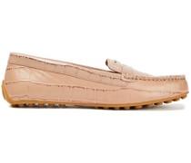 Loafers aus Leder mit Krokodileffekt