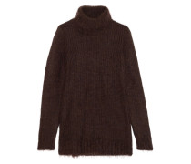 Mohair And Wool-blend Turtleneck Sweater Schokoladenbraun
