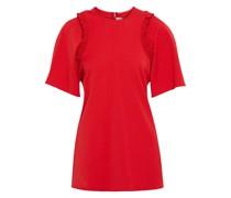 Oversized-t-shirt aus Ponte mit Rüschenbesatz