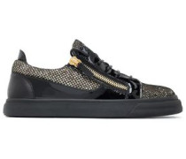 London smooth, glittered and patent-leather sneakers