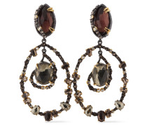 Gold And -tone Crystal Earrings