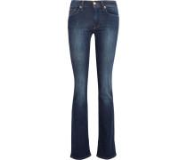 Mid-rise Slim-leg Jeans Dunkler Denim