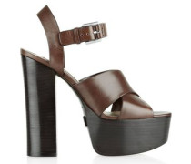 Crista leather platform sandals
