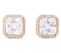 Save The Date Rose Gold-tone Crystal Earrings