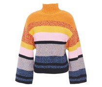 Soleil Striped Cotton And Cashmere-blend Sweater