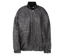 Galara Oversized Metallic Bouclé-tweed Bomber Jacket