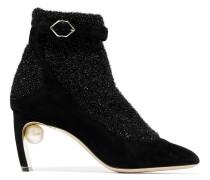 Embellished Tinsel Ankle Boots