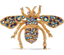 24-karat -plated Crystal Brooch