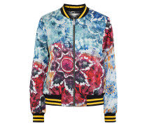 Lonnie Reversible Tie-dyed Satin Bomber Jacket
