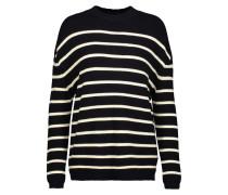 Breton Striped Merino Wool Sweater Mitternachtsblau