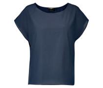 Silk And Cotton-blend Top Mitternachtsblau
