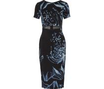 Cutout Printed Stretch-silk Dress Mehrfarbig