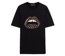 Alex Bedrucktes T-shirt aus Baumwoll-jersey mit Verzierung