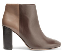 Bowie Two-tone Leather Boots Dunkelbraun