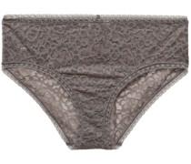Baci Bellezza Stretch-corded Lace Mid-rise Briefs