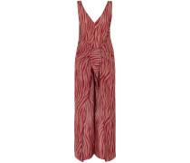 Acella Tie-front Tiger-print Cotton And Silk-blend Voile Jumpsuit