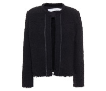 Caster Leather-trimmed Bouclé-tweed Jacket