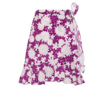 Ruffle-trimmed Floral-print Cotton-mousseline Mini Wrap Skirt
