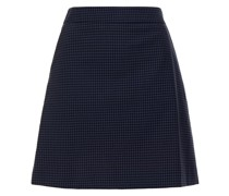 Gingham Cotton Mini Skirt