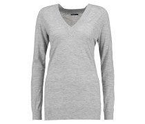 Delrina L Preen Stretch-merino Wool Sweater Hellgrau