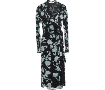 Marin Knotted Printed Crepe-jersey Wrap Dress