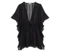Friday Crocheted Lace And Cotton-blend Voile Kaftan