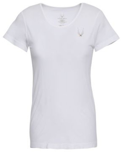 Printed Tech-jersey T-shirt White