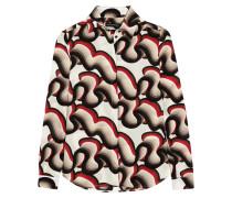 Alana Printed Silk Crepe De Chine Shirt Mehrfarbig