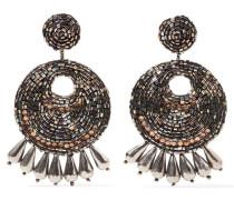 Burnished Gold-tone Bead Earrings Bronze