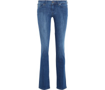 The Straight Low-rise Slim-leg Jeans Mittelblauer Denim