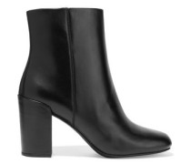 Hana glossed-leather ankle boots