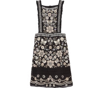 Embellished Georgette Mini Dress Schwarz
