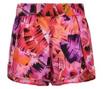 Petal printed silk-crepe shorts