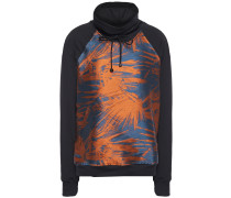 Funnel Roulette Jacquard-paneled Stretch-jersey Hoodie