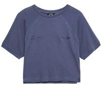 Cropped T-shirt aus Jersey aus Einer Baumwoll-leinenmischung mit Print