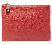 Textured-leather Clutch Rot